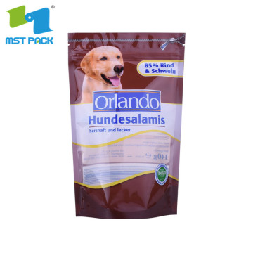 disposable plastic standing up pet food packaging bags dog food bags