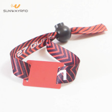 Manufacturer of for Fabric NFC Wristbands,Disposable RFID Fabric Wristband,Elastic Custom Fabric NFC Wristband Wholesale from China 13.56mhz NTAG215 Woven NFC Bracelet export to Israel Factories