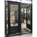 Hot Sales America Standard Security Wrought Iron Entry Doors