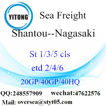 Shantou Port Sea Freight Shipping To Nagasaki
