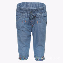 Children`s Capri Pants Light Blue Denim Jeans