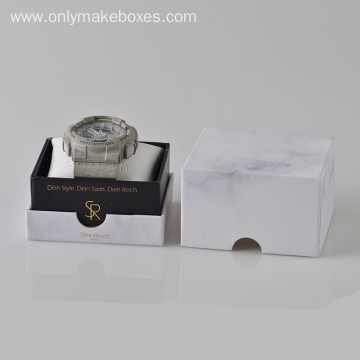 Texture Paper Boxes With White Pillow Tray