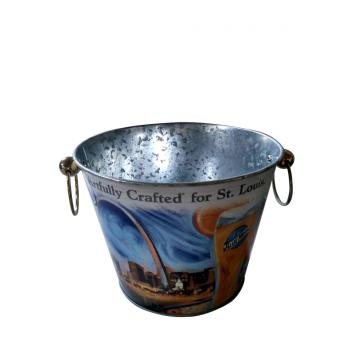 Ice bucket with luxurious stainless steel handles