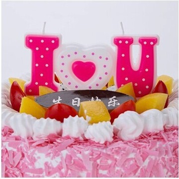 Customized I Love You Words Candles