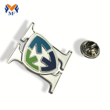 Renewable Design for Button Badge Die cut metal badge pin logo custom supply to Jamaica Suppliers