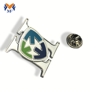 Die cut metal badge pin logo custom