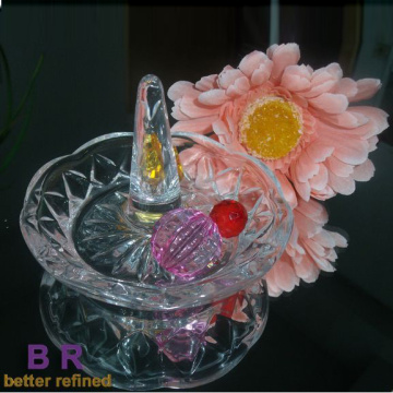 Creative Crystal Glass Ring Holder For Wedding