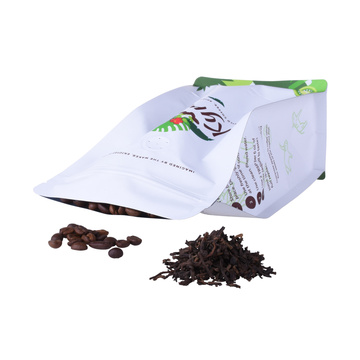 compostable coffee bag with zipper