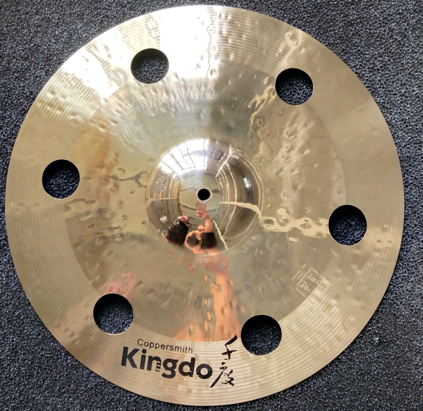 Drum Kit Cymbals With Holes