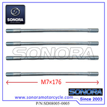 139QMA GY6-50 Cylinder Head Long Studs (M7×176) (P/N:SD08005-0005)Top Quality