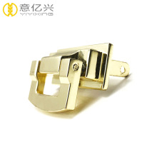 Purse/Handbag Hardware Clasp Gold Metal Lock