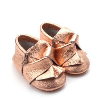 Fashion Soft Sole Baby Moccasins with Bowknot