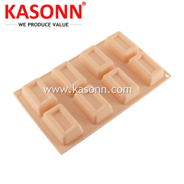 Mini Square Mini Loaf Soap Cetakan Silikon Pan