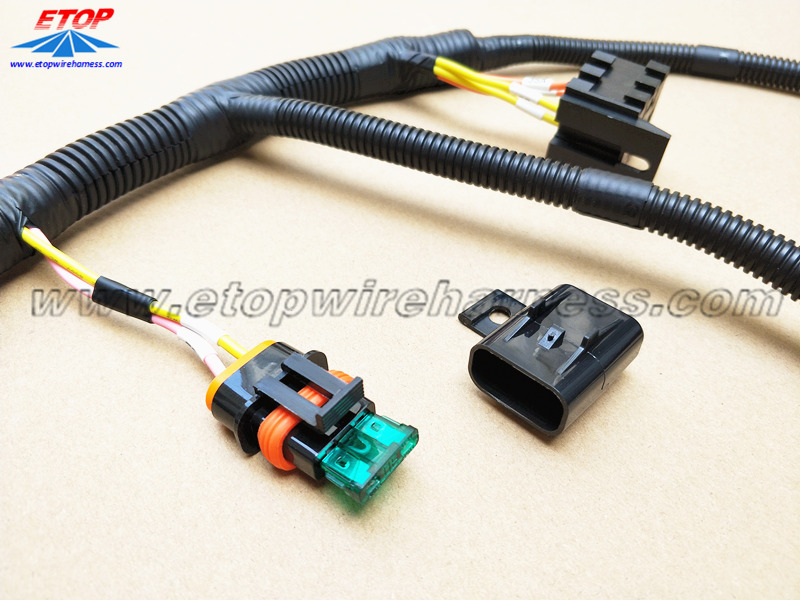automotive relay to IP67 fuse box cable assembly