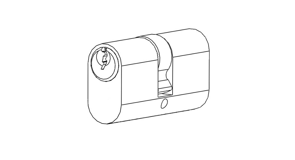 Oval cylinder lock double side