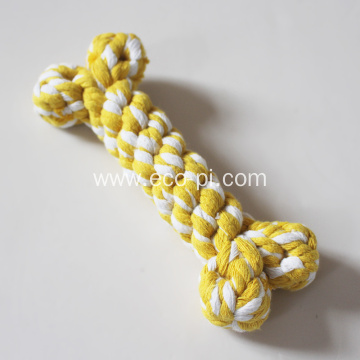 Cotton Dog Rope Biting Squeak Toy Chew Ball