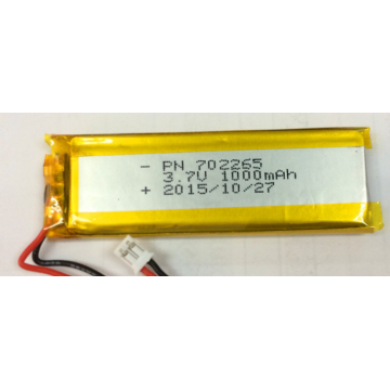 3.7v Lithium Polymer 1000mAh Rechargeable Battery (LP2X6T7)