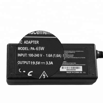 Laptop Adapter 19.5V 3.34A 65W Dell AC Charger
