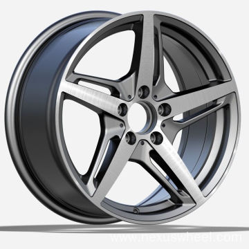Gunmetal Machined Mercedes Replica Wheel
