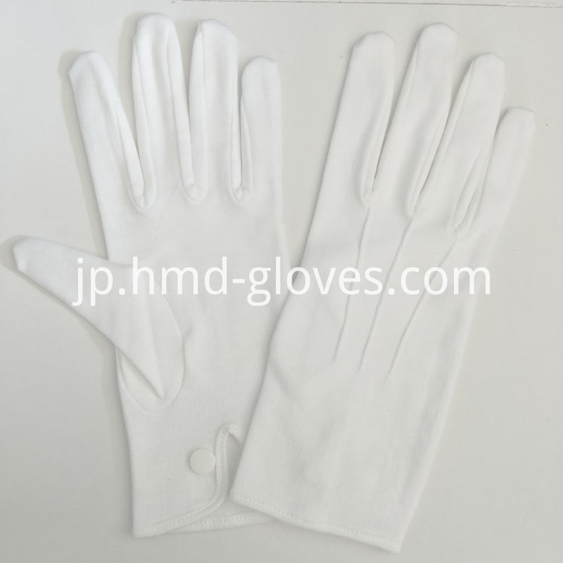 White Cotton Snap Gloves for Police (6)