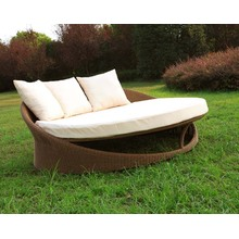 Outdoor PE Rattan Round Daybed