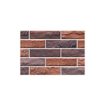 Decorative outdoor brick wall veneer