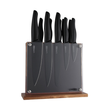 12 PIECE BLACK OXIDE KITCHEN KNIFE SET