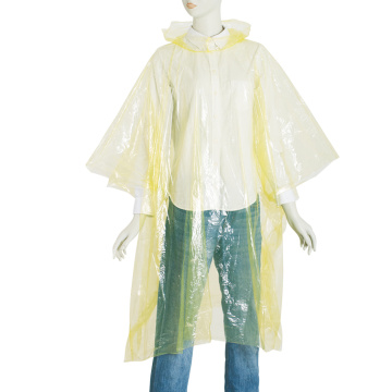 different color PE rain cape poncho