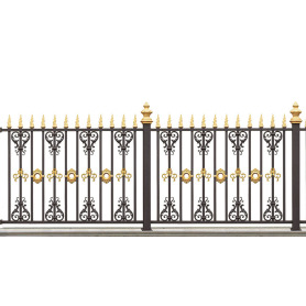 Golden Flame Aluminum Fence