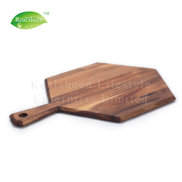 Hexagon Paddle Acacia Wood Cutting Board