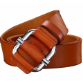 Simple non-porous belt double buckle belt