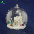 clear hand blown Christmas glass ball gift