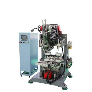 Customized flat brush drilling and tufting machine