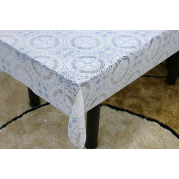 Printed Vinyl  pvc lace tablecloth by roll