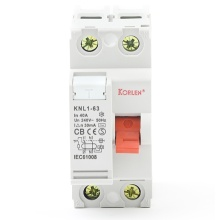 Korlen New Type Residual Current Circuit Breaker RCCB 1P+N 3P+N 30, 100, 300mA with IEC61008-1