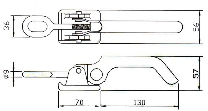 Truck Toggle Fastner Lock