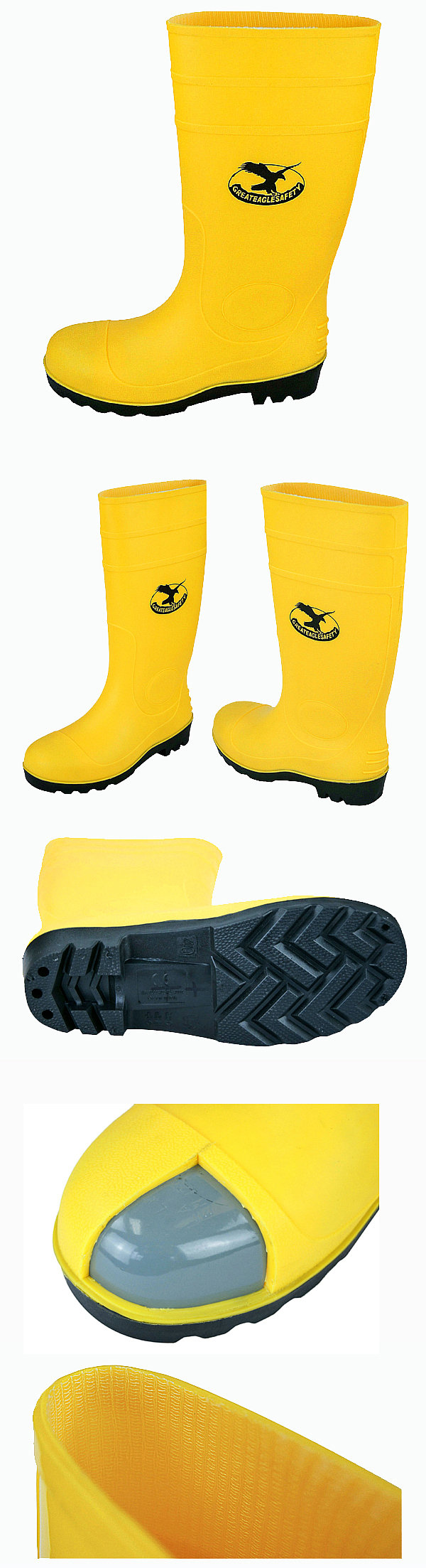 Steel Pvc Safety Gumboots