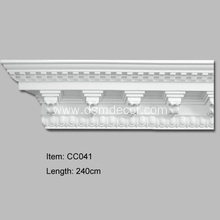 Excellent quality for Carved Cornice Mouldings Big Size Decorative PU Cornices export to South Korea Importers