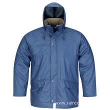Breathable and Windproof PU Rain Jacket