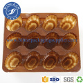 Mini Style Compartments Brown Plastic Sugar Packaging Tray