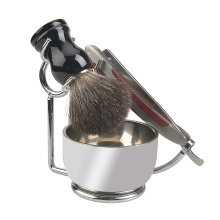 Pure badger shaving brush set