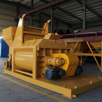 Stationary 1m3 self loading concrete mixer machine