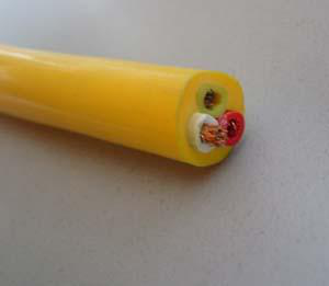 Polyethylene insulated cold-resistant cable