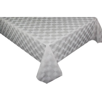 Solid Embossed Fabric Tablecloth Covers 6ft