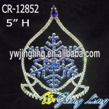 China for Christmas Party Hats 5 Inch Boy Snowflake Crown For Christmas supply to Sri Lanka Factory