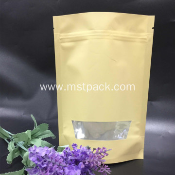 Single color Doypack With Clear Window