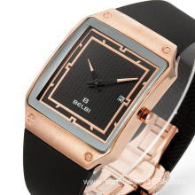China Gold Supplier for for China Manufacturer of Lovers' Watches, New Waterproof Watch, Classic Stainless Steel Watch Men's PU Quality Straps Square Calendar Quartz Watch export to Russian Federation Manufacturers