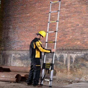 11 steps single aluminum ladder