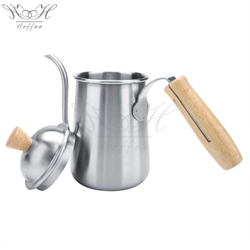 Hand Drip Coffee Kettle Wood Handle