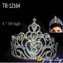 4 Inch Beauty Rhinestone Queen Crowns
